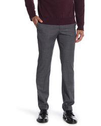 """Original Penguin Charcoal Solid Trim Fit Suit Separates Pants - 30-34"""" Inseam - Gray"""