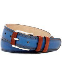 Peter Millar - Burnished Calf Leather Belt - Lyst