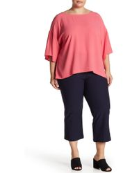 Eileen Fisher - Cropped Solid Pants (plus Size) - Lyst