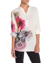 Desigual - Butterfly Floral Print Blouse - Lyst
