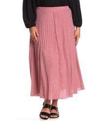 Max Studio Maxi Pleated Skirt - Pink