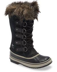 Sorel Joan Of Arctic Faux Fur Waterproof Snow Boot - Black