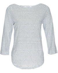 FRAME Striped Boatneck Linen T-shirt - Multicolor
