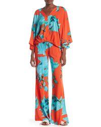 On The Road - Sydney Printed Smocked Pants - Lyst