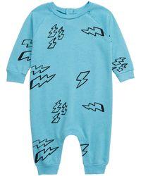 Stem Swoop Raglan Romper (baby) - Blue