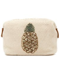 Twig & Arrow - Embellished Pineapple Woven Pouch - Lyst