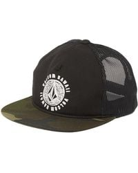 d10f984a Volcom Texas Cheese Snapback Trucker Cap in Black for Men - Lyst