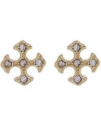 Shashi - Faye Pave Cz Stud Earrings - Lyst