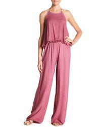 On The Road Myrna Pompom Jumpsuit - Pink