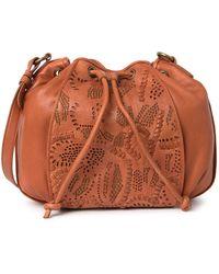 Frye Vivian Leather Bucket Bag In Open Brown At Nordstrom Rack