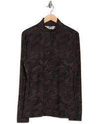 90 Degrees Half Zip Long Sleeve Pullover - Black