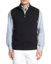 Bobby Jones - Quarter Zip Wool Jumper Vest - Lyst