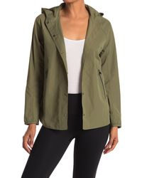Mountain Hardwear Railay Button Front Hooded Jacket - Green