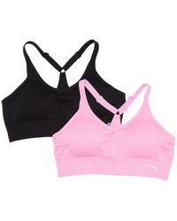 PUMA Seamless Y-back Sports Bra - Pink
