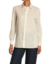 Billy Reid Paneled Tunic Blouse - Natural