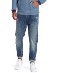 Vince - Cropped Light Distressed Jeans - Lyst