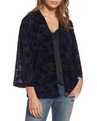 Hinge - Burnout Velvet Kimono Jacket - Lyst