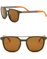 Timberland - Men's Polarized 51mm Round Browbar Sunglasses - Lyst