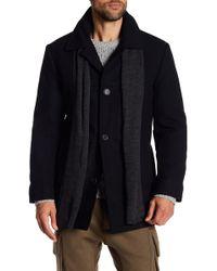 Izod - Wool Blend Scarf Coat - Lyst