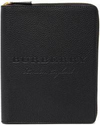 Burberry Walcott Leather Portfolio - Black