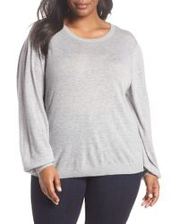 Sejour Balloon Sleeve Pullover - Gray