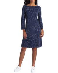 Isaac Mizrahi New York Boat Neck Dress - Blue