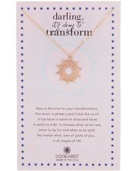 Dogeared - 14k Rose Gold Vermeil Darling It's Okay To Transform Charm Necklace - Lyst