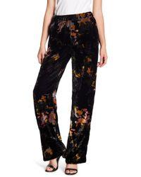 Mother - Floral Velvet Pants - Lyst