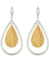 Gurhan - Two-tone Pear Geo Flake Earrings - Lyst