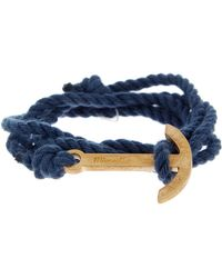 Miansai - Modern Anchor On Rope Bracelet - Lyst