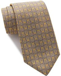Psycho Bunny Silk Allover Bunny Tie - Yellow