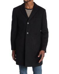 Cardinal Of Canada Notch Lapel Top Coat - Black