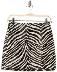 FRAME Zebra Print Mini Skirt - Black