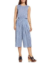 Two By Vince Camuto - Print Sleeveless Culotte Jumpsuit - Lyst