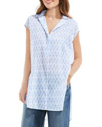 Two By Vince Camuto Ikat Stars Tunic - Blue