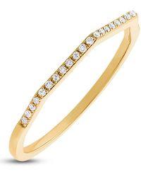 Ron Hami - 14k Gold Geo Shaped Pave Diamond Ring - 0.07 Ctw - Lyst