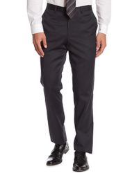 Nordstrom Flat Front Wool Pants - Multicolor