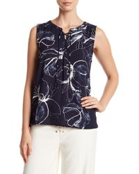 Vince Camuto - Lace-up Fresco Blouse - Lyst