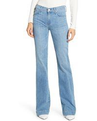 7 For All Mankind Dojo Wide Leg Jeans - Blue