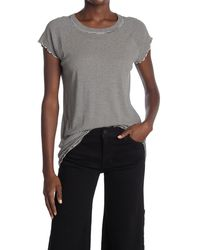 Nili Lotan Striped Lettuce Edge T-shirt - Black