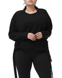 GOOD AMERICAN - Ruched Hem High/low Sweatshirt (plus Size) - Lyst