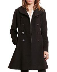 Lauren by Ralph Lauren - Fit & Flare Military Coat - Lyst