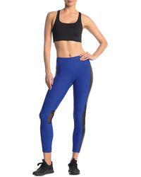 90 Degrees Mesh Colorblock Leggings - Blue