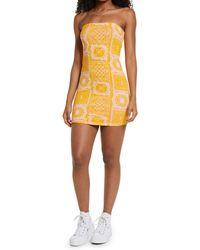 BP. Knit Tube Dress - Yellow