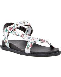 Lfl - Veda Ankle Strap Wedge Sandal - Lyst