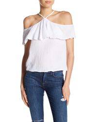 Michael Stars - Front To Back Cold Shoulder Reversible Flounce Top - Lyst