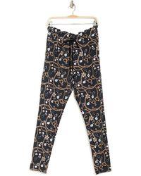 X By Gottex Terry Paperbag Waist Drawstring Pants - Black