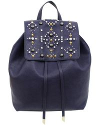 Foley + Corinna Avery Studded Liberated Vegan Leather Backpack - Blue