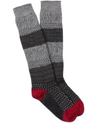 Smartwool Popcorn Cable Knee High Socks - Gray