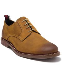 Ben Sherman Brent Leather Plain Toe Derby - Brown